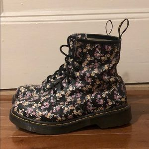 Cute floral doc marten boots